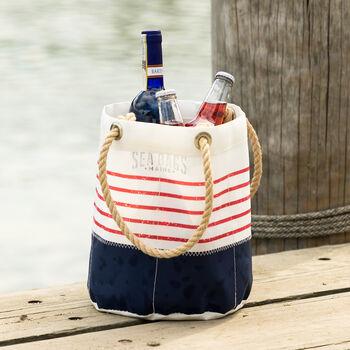 Red Mariner Stripe Beverage Bag