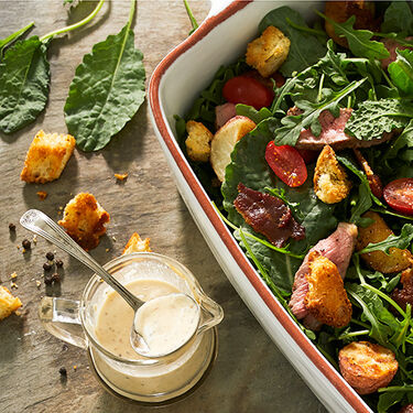 Buttermilk Peppercorn Steak Salad