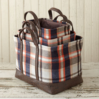 Plaid Basket Collection