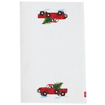 Holiday Truck Tea Towel