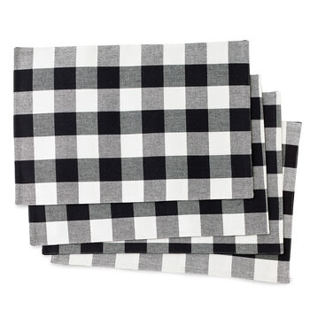 Black & White Checked Placemats