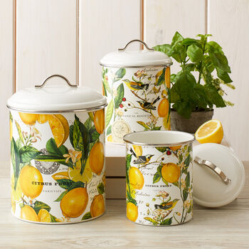 Metal Lemon Canister Set