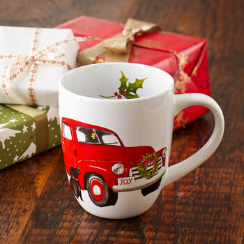 Retro Holiday Truck Mug