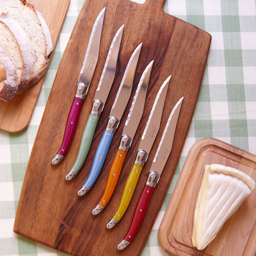 Colored Handle Knife Set