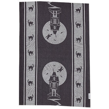 Haunted House Tea Towel