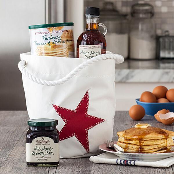 Stonewall Kitchen Red Star Sea Bag Bucket Bag Breakfast Gift