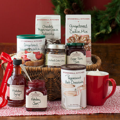 Holiday Flavors Gift Basket Stonewall Kitchen