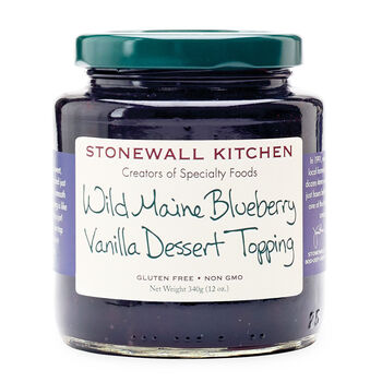 Wild Maine Blueberry Vanilla Dessert Topping