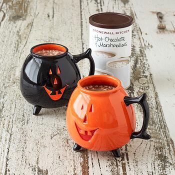 Halloween Hot Chocolate Mug Set