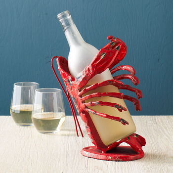 Cast Iron Lobster Wine Holder