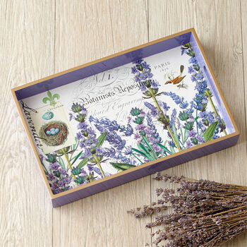 Lavender Decoupage Wooden Tray