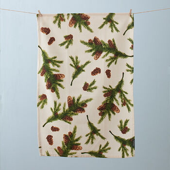 Pine Garland Tea Towel