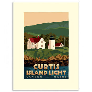 Curtis Island Lighthouse Print