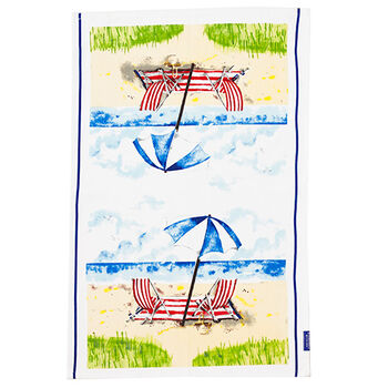 Day at the Beach Tea Towel