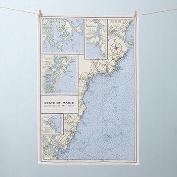 Nautical Chart Tea Towel