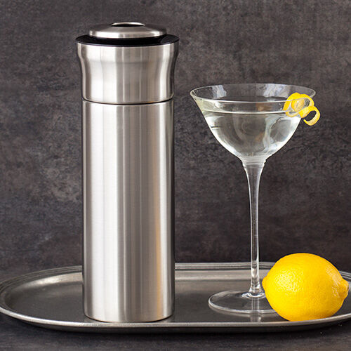 Steel Press & Pour Cocktail Shaker