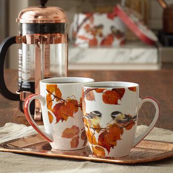 Autumn Bird Mug Set
