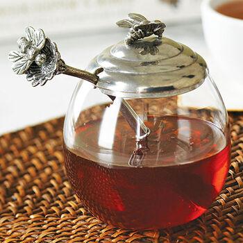 Honey Pot with Bee Spoon