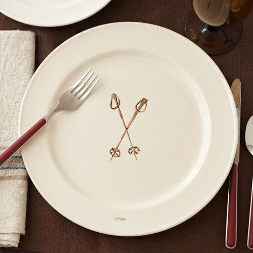 Ski Pole Dinner Plate