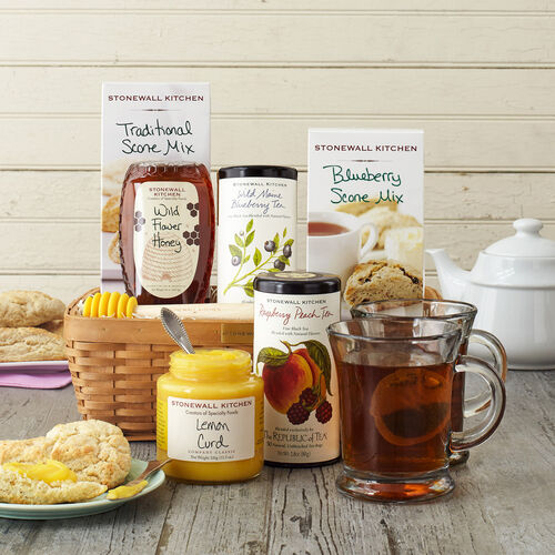 Tea lover 39 s gift basket gifts stonewall kitchen Gifts for kitchen lovers