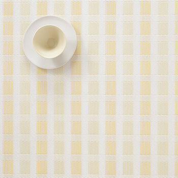 Yellow & White Check Placemat