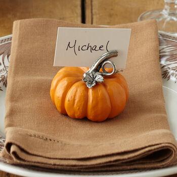 Pumpkin Place Card Holder