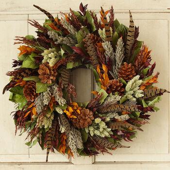 "Pheasant Feather 18"" Wreath"