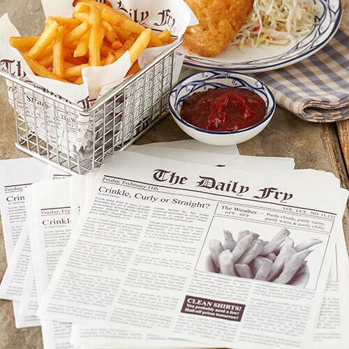 Newsprint Fry Paper Liners