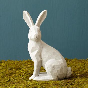 Cement Rabbit Figure