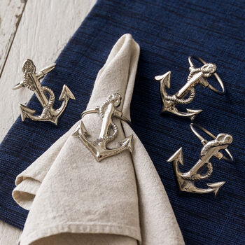 Anchor Napkin Ring set