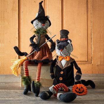 Black Cat Figure Couple