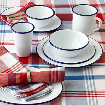 Blue and White Enamelware