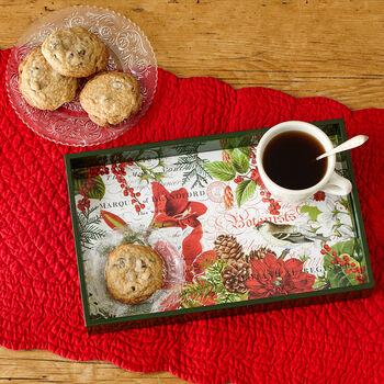 Merry & Bright Decoupage Tray