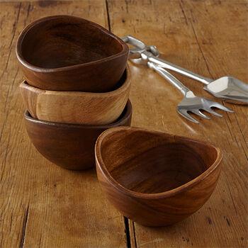 Acacia Salad Bowls