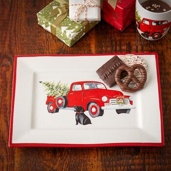Retro Holiday Truck Platter