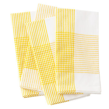 Yellow Houndstooth Napkins