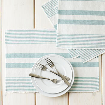 Ribbed Sea Glass Placemats
