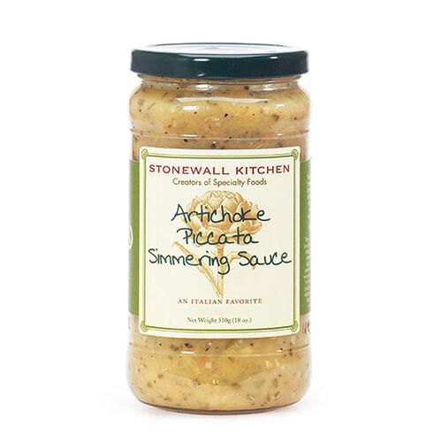 Artichoke Piccata Simmering Sauce