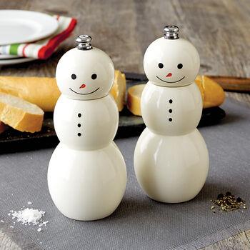 Snowman Salt & Pepper Mills