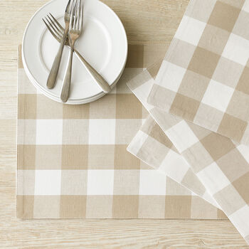 Sandstone Checked Placemats