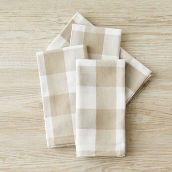 Sandstone Checked Napkins
