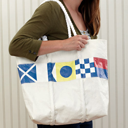 Nautical Flag Tote - Medium