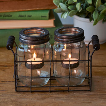 Double Canning Jar Tealight
