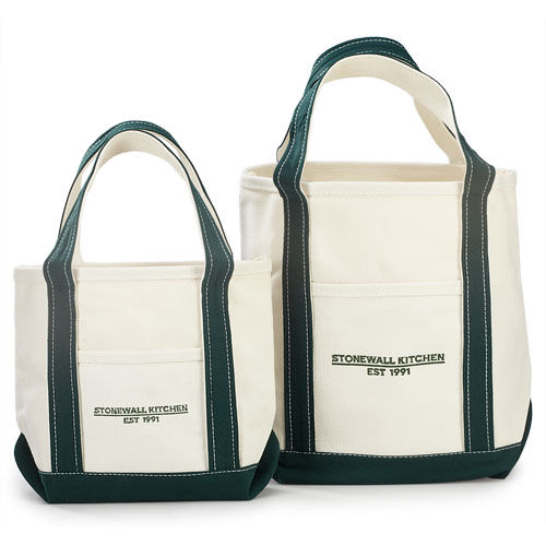 Small Forest Green Canvas Tote Bag