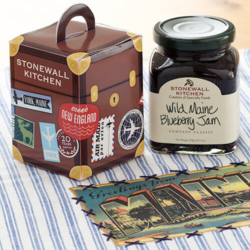 Travel Suitcase with Wild Maine Blueberry Jam