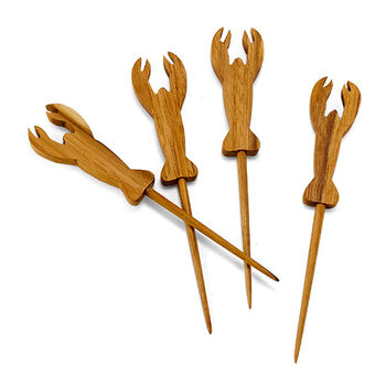 Wooden Lobster Picks