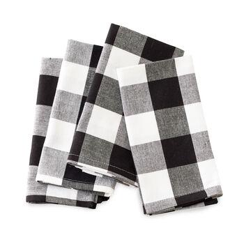 Black & White Checked Napkins