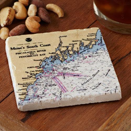South Coast of Maine Tile/Coaster