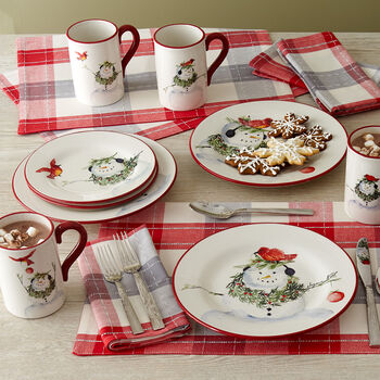 Snowman Dinnerware
