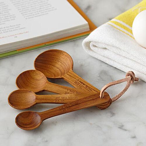 Teak Measuring Spoon Set